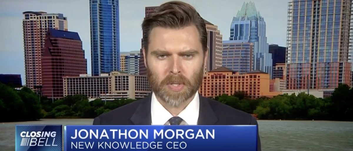 """Jonathan Morgan was part of a """"false flag"""" operation staging Russian bots in the Alabama special election Screenshot/CNBC"""