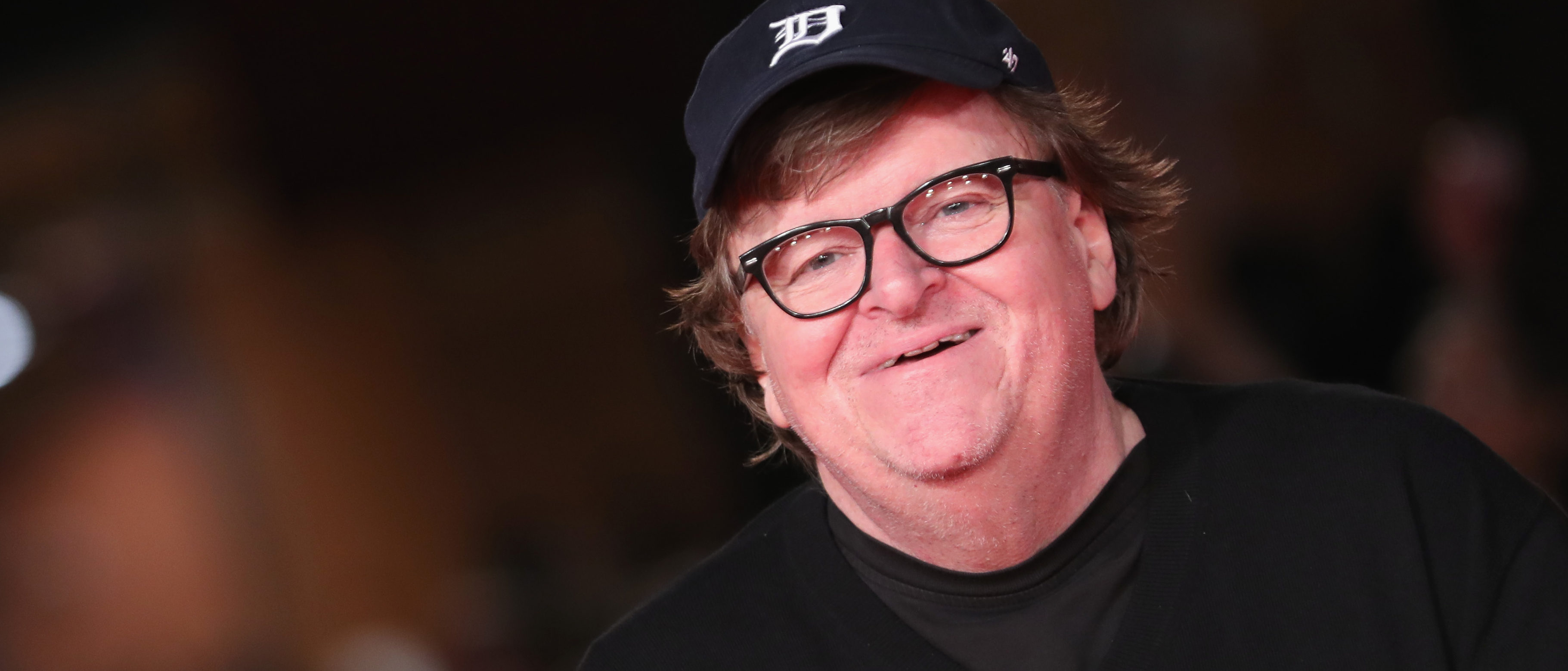 """Michael Moore walks the red carpet ahead of the """"Fahreneit 11/9"""" screening during the 13th Rome Film Fest at Auditorium Parco Della Musica on October 20, 2018 in Rome, Italy. (Photo by Vittorio Zunino Celotto/Getty Images)"""