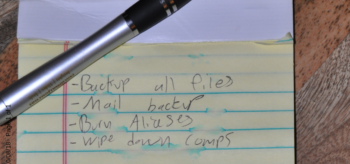 Note found in Jackson Cosko's apartment / Evidence filed by prosecutors in D.C. federal court