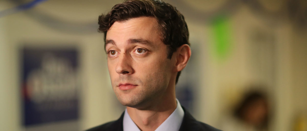 Democratic candidate Jon Ossoff visits a campaign office to speak with volunteers and supporters on Election Day as he runs for Georgia's 6th Congressional District on June 20, 2017 in Tucker, Georgia. (Joe Raedle/Getty Images)