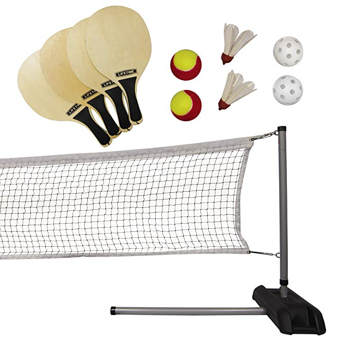Normally $105, this pickleball/badminton set is 30 percent off today (Photo via Amazon)