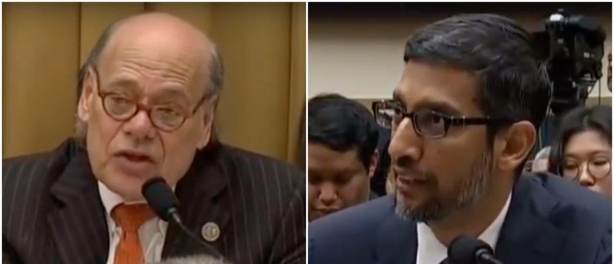 Rep. Steve Cohen Questions Google CEO Sundar Pichai (YouTube Screenshot: December 11, 2018)