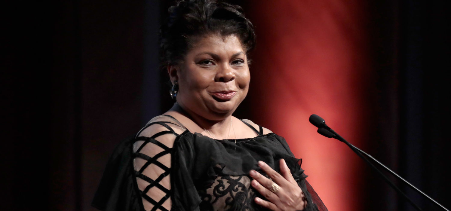 NEW YORK, NY - OCTOBER 26: Journalist April Ryan accepts the WMC She Persisted Award onstage at the Women's Media Center 2017 Women's Media Awards at Capitale on October 26, 2017 in New York City. Cindy Ord/Getty Images for Women's Media Center