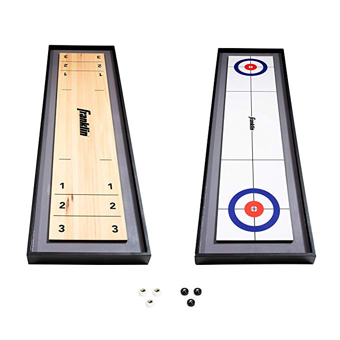Normally $50, this shuffleboard table and curling table set is 12 percent off today (Photo via Amazon)