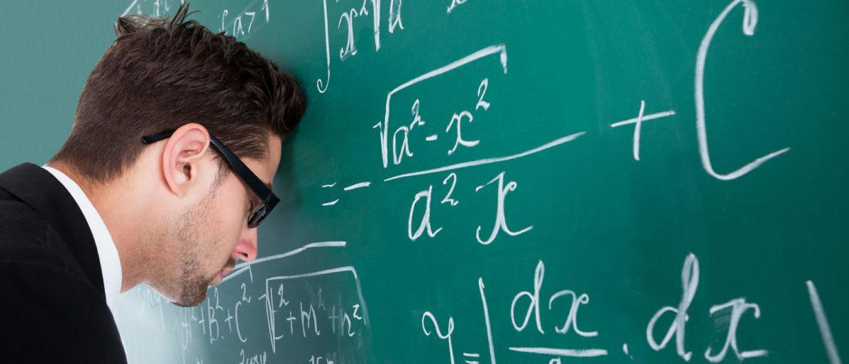 Nearly 2,400 North Carolina teachers failed the math portion of an exam. SHUTTERSTOCK/ Andrew_Popov
