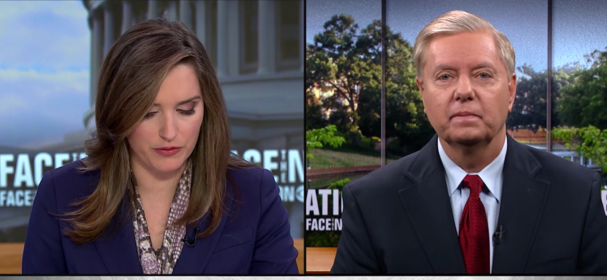 "Sen. Lindsey Graham (R-S.C.) discusses the partial government shutdown on CBS's ""Face the Nation,"" Jan. 6, 2018."