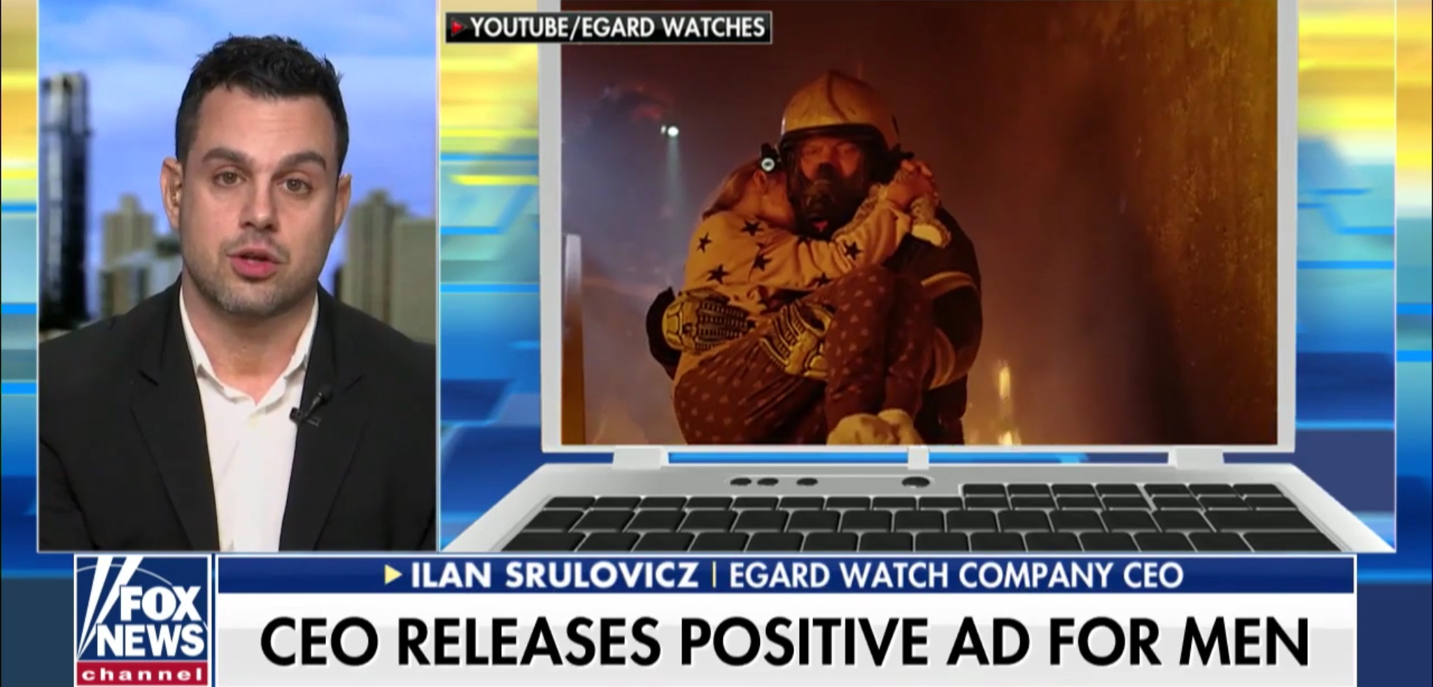 "Ilan Srulovicz, found of the Egard Watch Company, discusses Gillette's ""toxic masculinity"" ad on ""Fox & Friends,"" Jan. 21, 2019. Fox News screenshot."