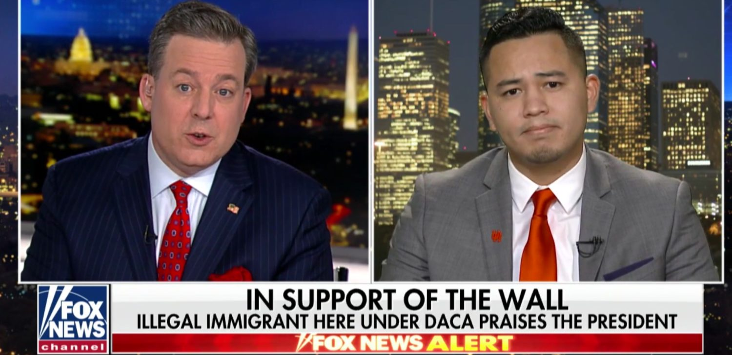 Dreamer Hilaraio Yanez speaks to Fox News' Ed Henry, Jan. 9, 2019. Fox News Screenshot