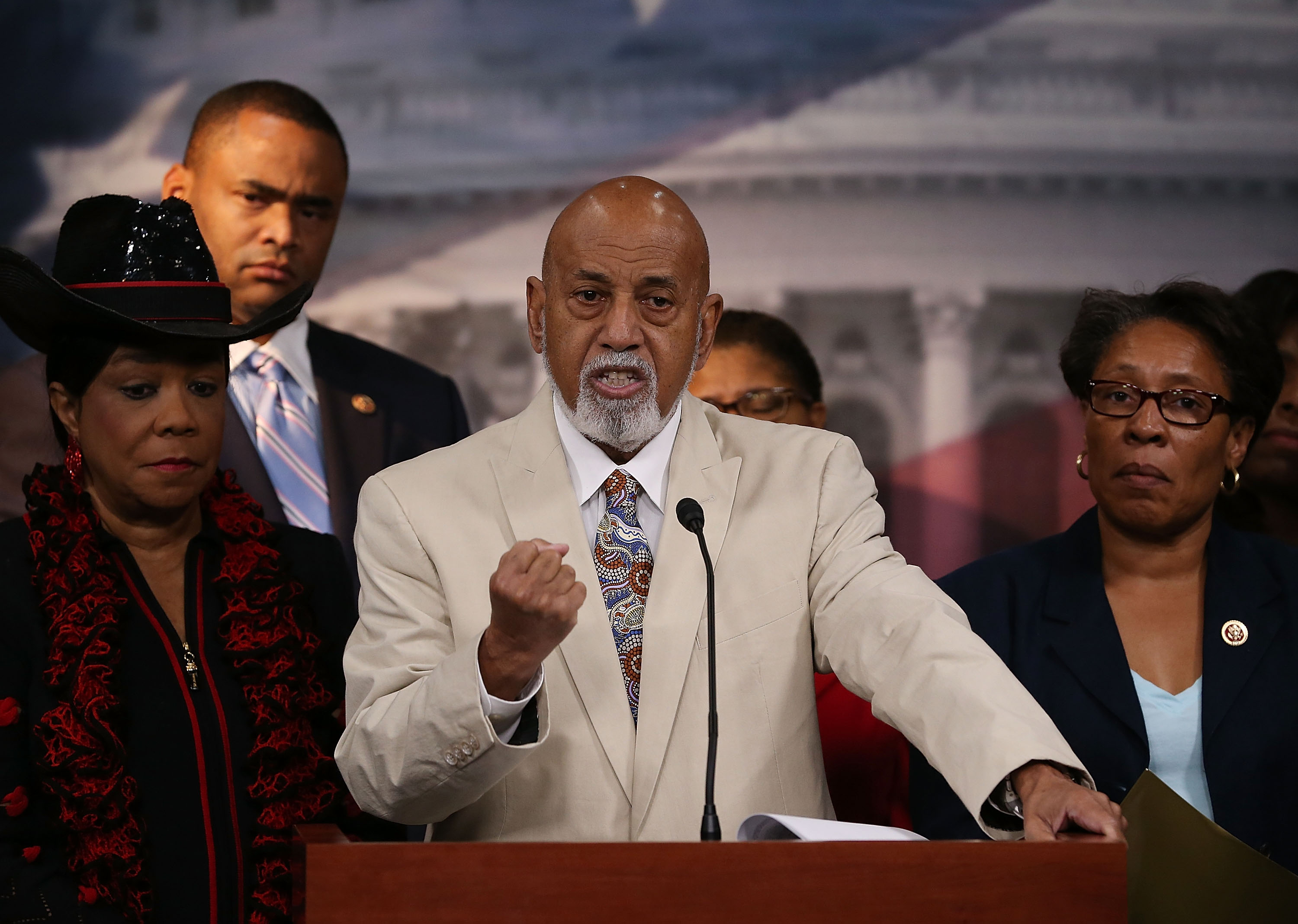 Rep. Alcee Hastings speaks about black judicial nominees (Mark Wilson/Getty Images)