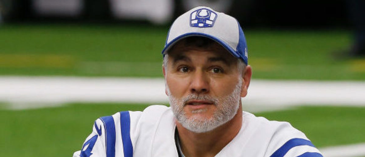 HOUSTON, TX - JANUARY 05: Adam Vinatieri #4 of the Indianapolis Colts warms up before playing the Houston Texans in the Wild Card Round at NRG Stadium on January 5, 2019 in Houston, Texas. (Photo by Bob Levey/Getty Images)