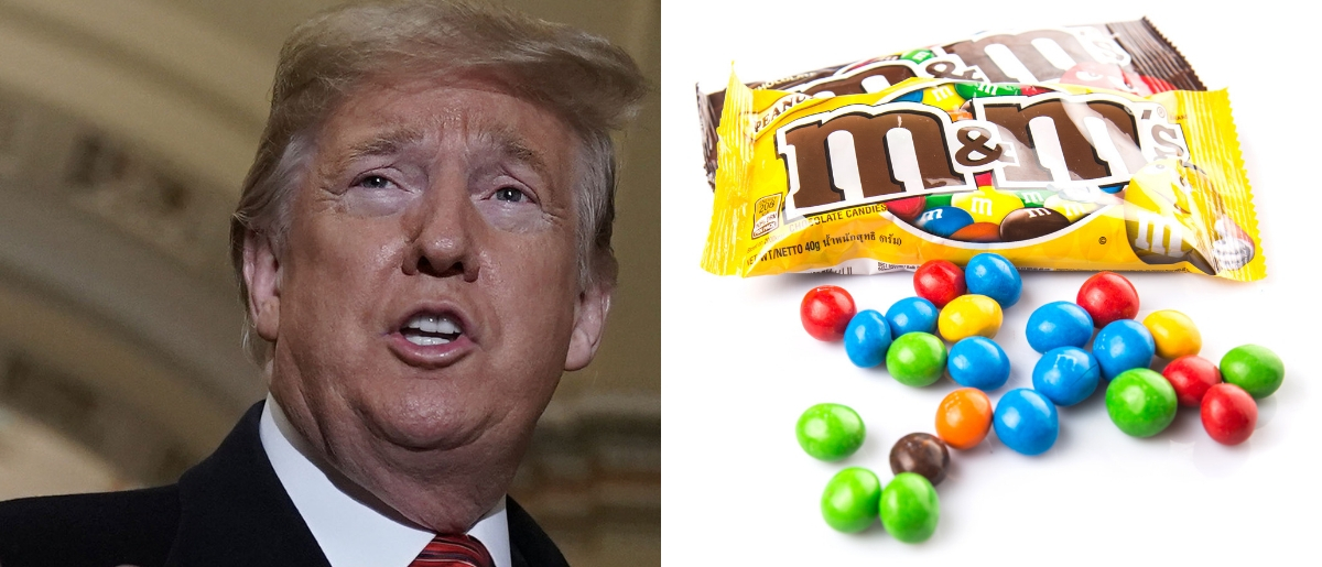 President Donald Trump passed out candy during shutdown talks on Jan. 9, 2019. Alex Wong/Getty Images and Shutterstock image via user MAHATHIR MOHD YASIN