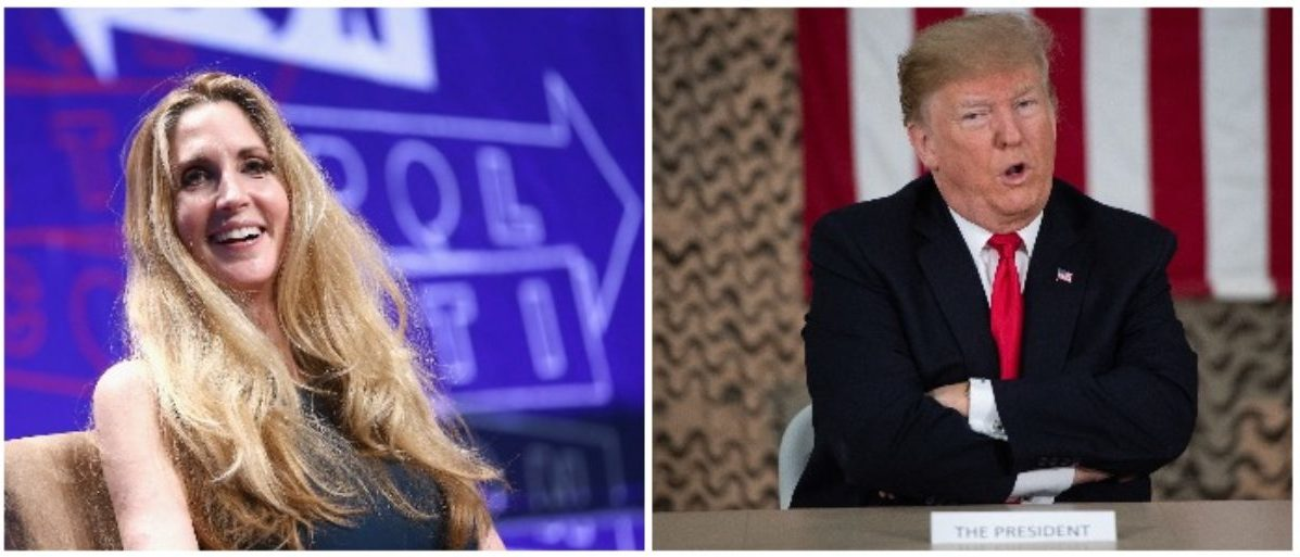 Ann Coulter and Donald Trump (LEFT: Rich Polk/Getty Images for Politicon RIGHT: SAUL LOEB/AFP/Getty Images)