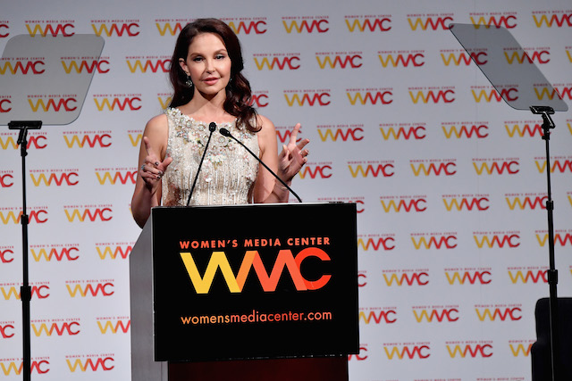Ashley Judd accepts the WMC Speaking Truth To Power Award onstage at the Women's Media Center 2017 Women's Media Awards at Capitale on October 26, 2017 in New York City. (Photo by Mike Coppola/Getty Images for Women's Media Center)