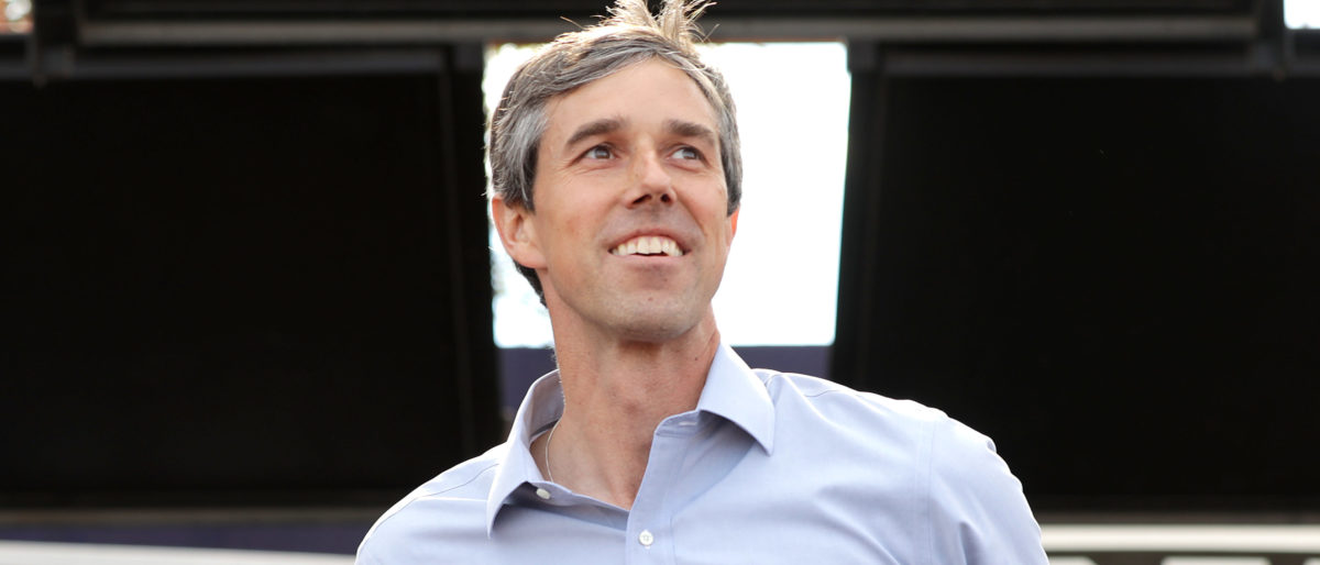 Senate candidate Rep. Beto O'Rourke addresses a campaign rally in Austin, Texas. (Chip Somodevilla/Getty Images)