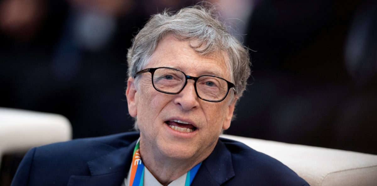 FILE PHOTO: Microsoft founder Bill Gates attends a forum of the first China International Import Expo (CIIE) in Shanghai on November 5, 2018. Matthew Knight/Pool via REUTERS