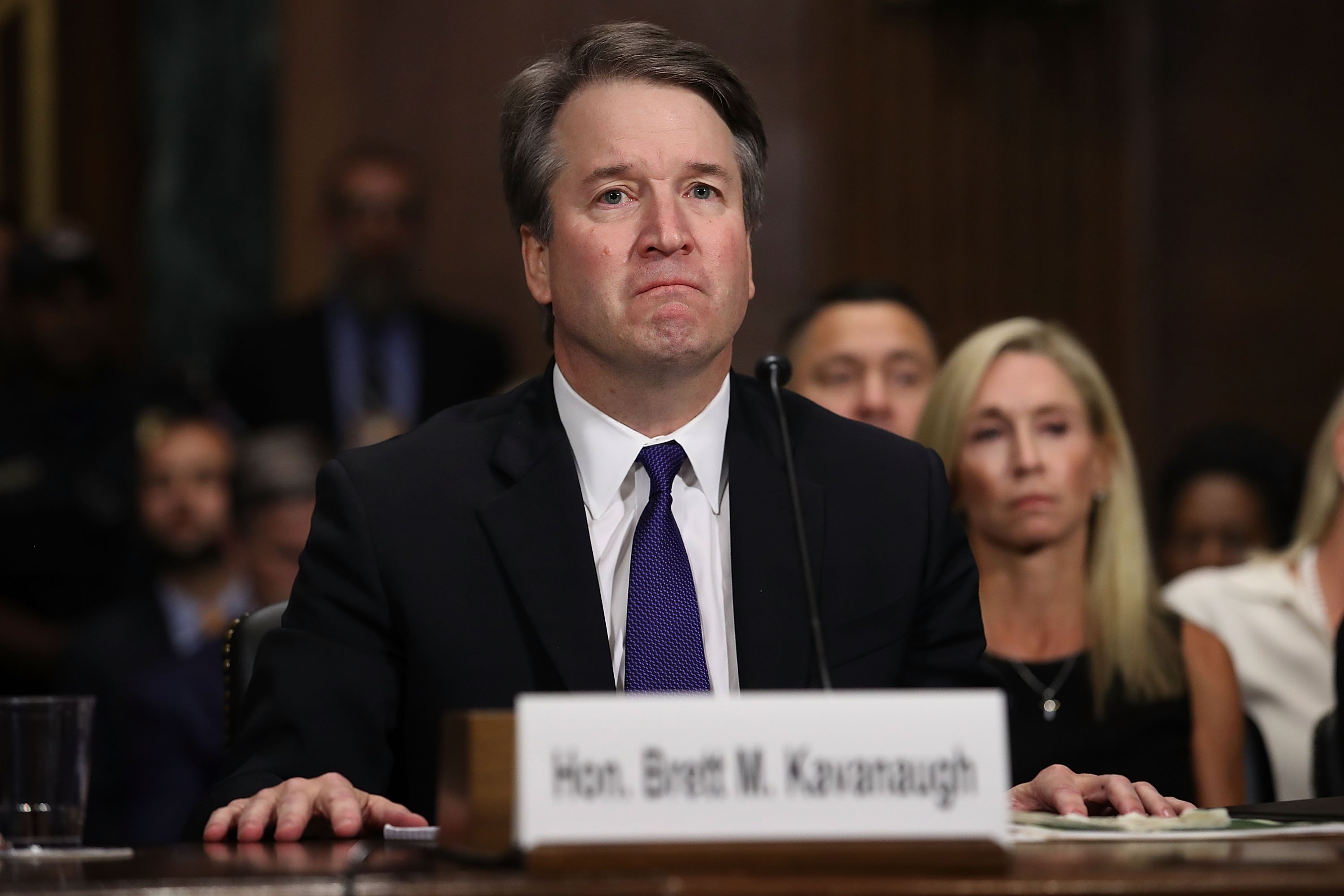Brett Kavanaugh testifies to the Senate Judiciary Committee during his confirmation hearing on Capitol Hill September 27, 2018. (Win McNamee/Getty Images)