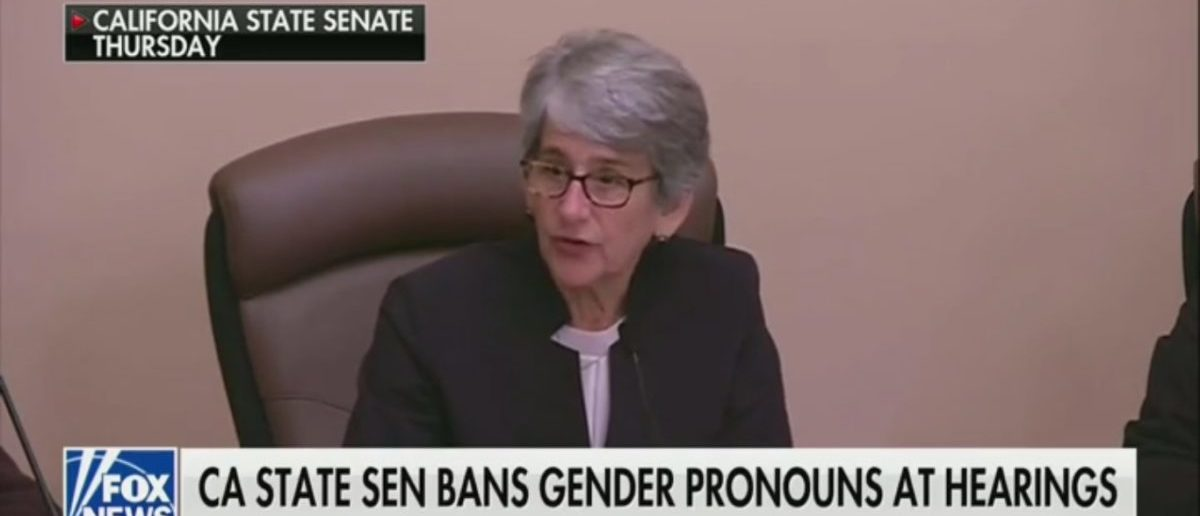 California State Senate Bans The Use Of 'He And She' During Hearings, Then Breaks Its Own Rule