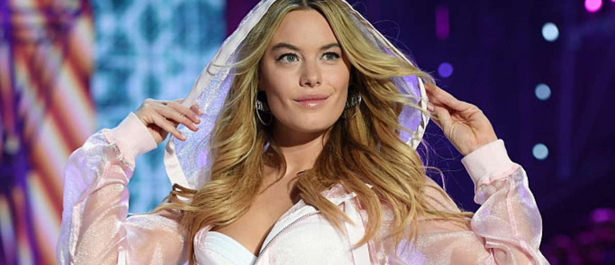 PARIS, FRANCE - NOVEMBER 30: Camille Rowe walks the runway during the 2016 Victoria's Secret Fashion Show on November 30, 2016 in Paris, France. (Photo by Dimitrios Kambouris/Getty Images for Victoria's Secret)