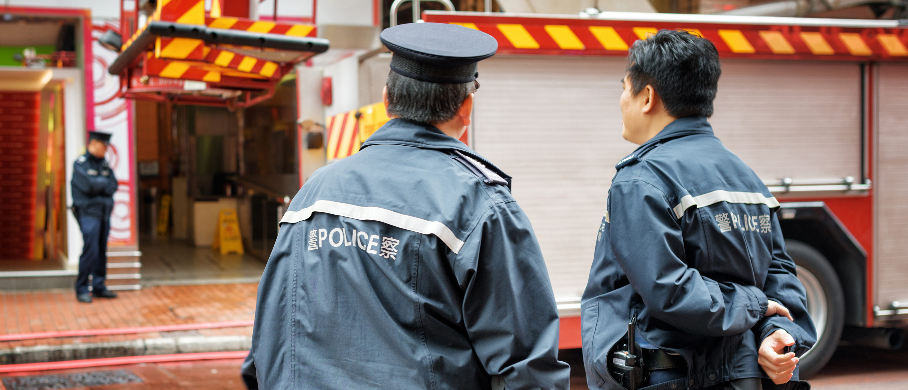 Chinese police (Shutterstock/Efired)