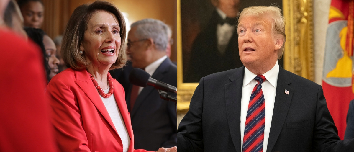 House Speaker Nancy Pelosi and President Donald Trump are at an impasse on reopening the federal government. Chip Somodevilla/Getty Images and Ron Sachs-Pool/Getty Images
