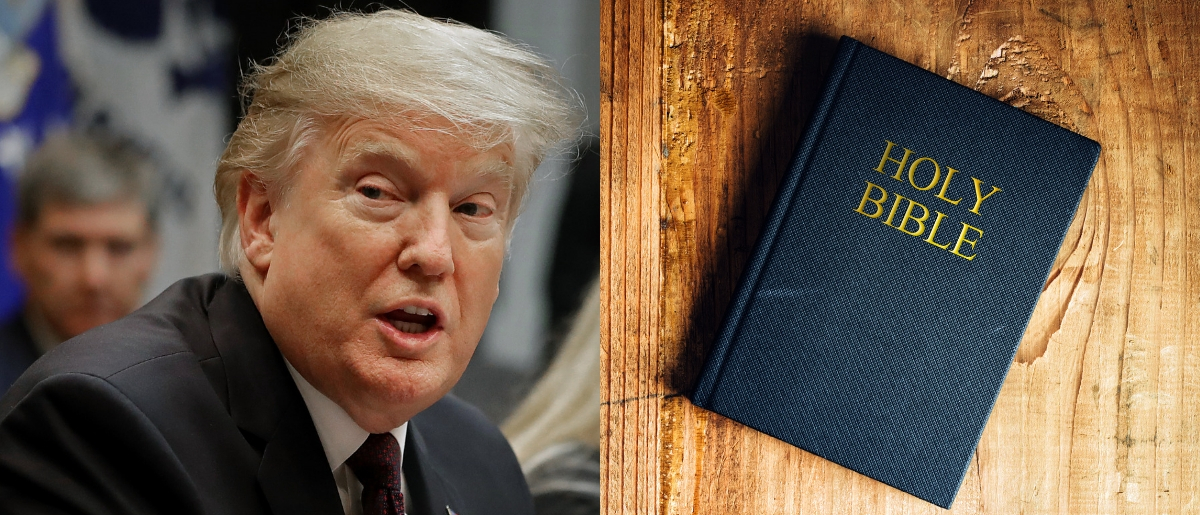 President Donald Trump praised 'Bible Literacy' classes on Twitter on Jan. 28, 2019. Chip Somodevilla/Getty Images and Shutterstock image via igorstevanovic