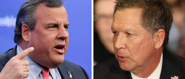 Chris Christie and John Kasich (LEFT: Chip Somodevilla/Getty Images RIGHT: Andrew Burton/Getty Images)