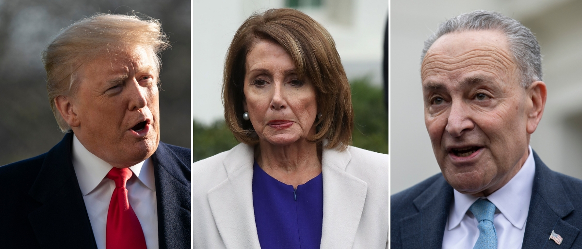 Major networks will air the Democratic rebuttal to the address after Senate Minority Leader Chuck Schumer and House Speaker Nancy Pelosi requested an equivalent slot to the president's. Chris Kleponis - Pool/Getty Images, Mark Wilson/Getty Images and ALEX EDELMAN/AFP/Getty Images