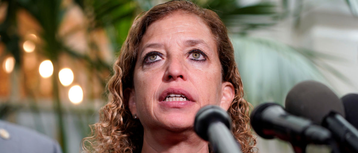 Rep. Debbie Wasserman Schultz (D-FL) speaks at a press briefing on the 27th day of a partial government shutdown on Capitol Hill in Washington, U.S., January 17, 2019. REUTERS/Joshua Roberts