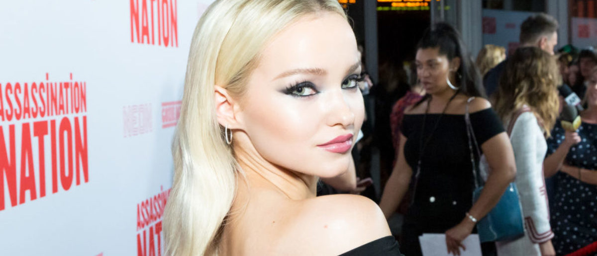 "HOLLYWOOD, CALIFORNIA - SEPTEMBER 12: Dove Cameron attends the Premiere Of Neon And Refinery29's ""Assassination Nation"" at ArcLight Hollywood on September 12, 2018 in Hollywood, California. (Photo by Greg Doherty/Getty Images)"