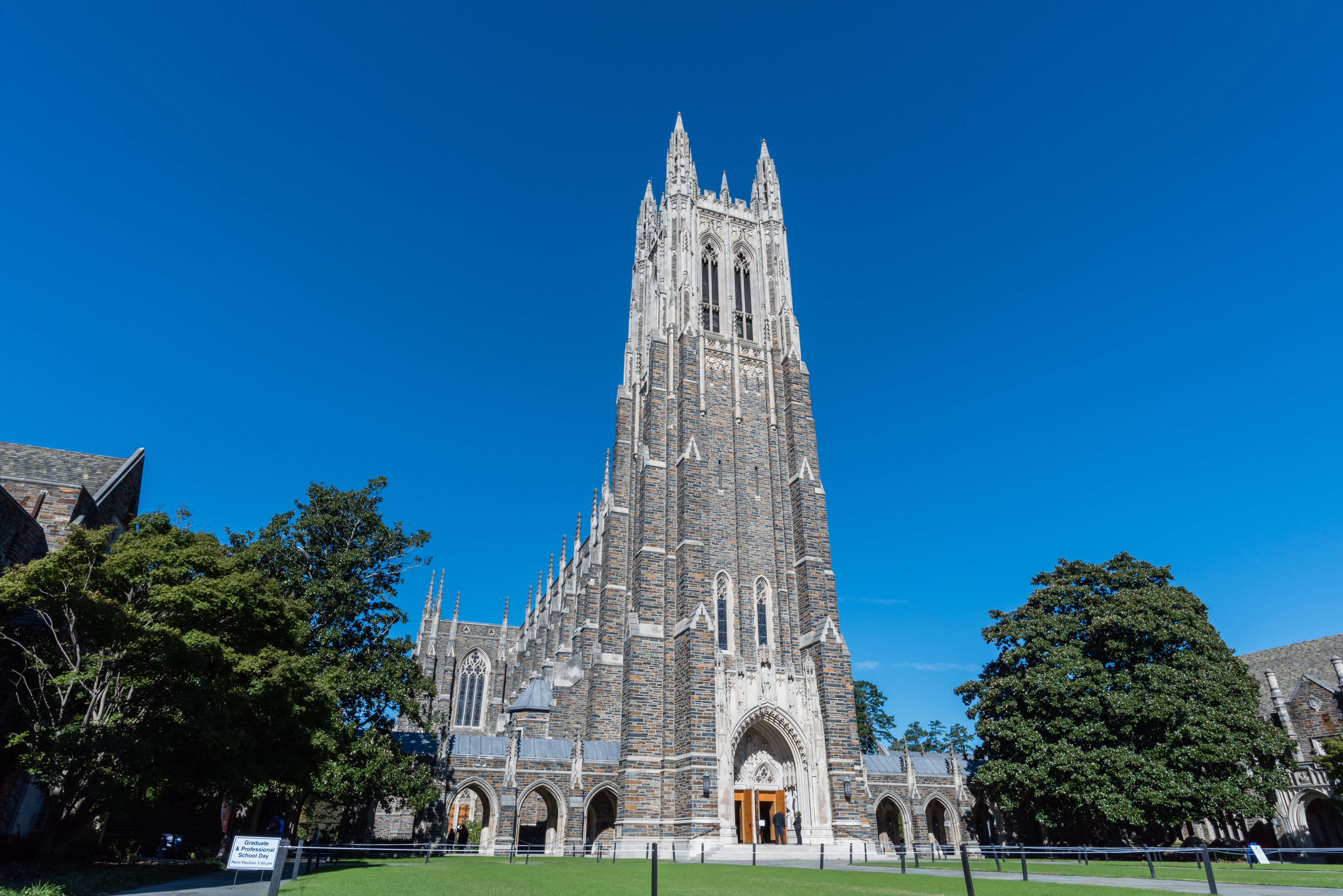 Pictured is Duke Chapel in Durham, NC. SHUTTERSTOCK/ Alex Krassel