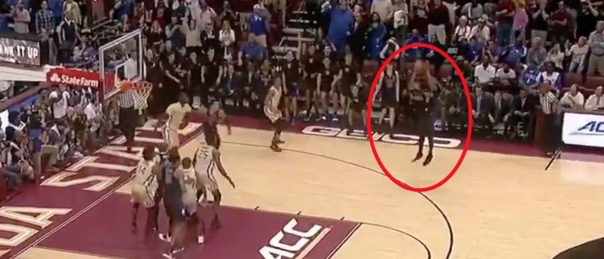 Duke (Credit: Screenshot/Twitter Video https://twitter.com/espn/status/1084199207186112512)