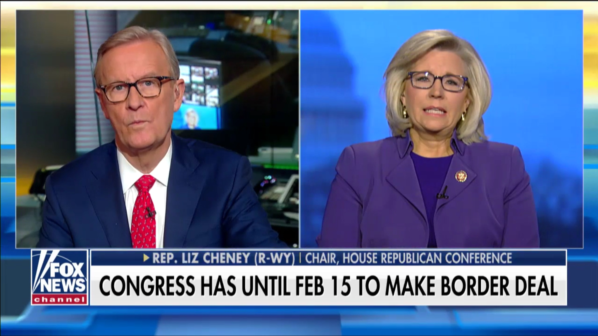 Wyoming Republican Rep. Liz Cheney talks to 'Fox & Friends' about the government shutdown and the border wall, Jan. 28, 2019. Fox News screenshot.
