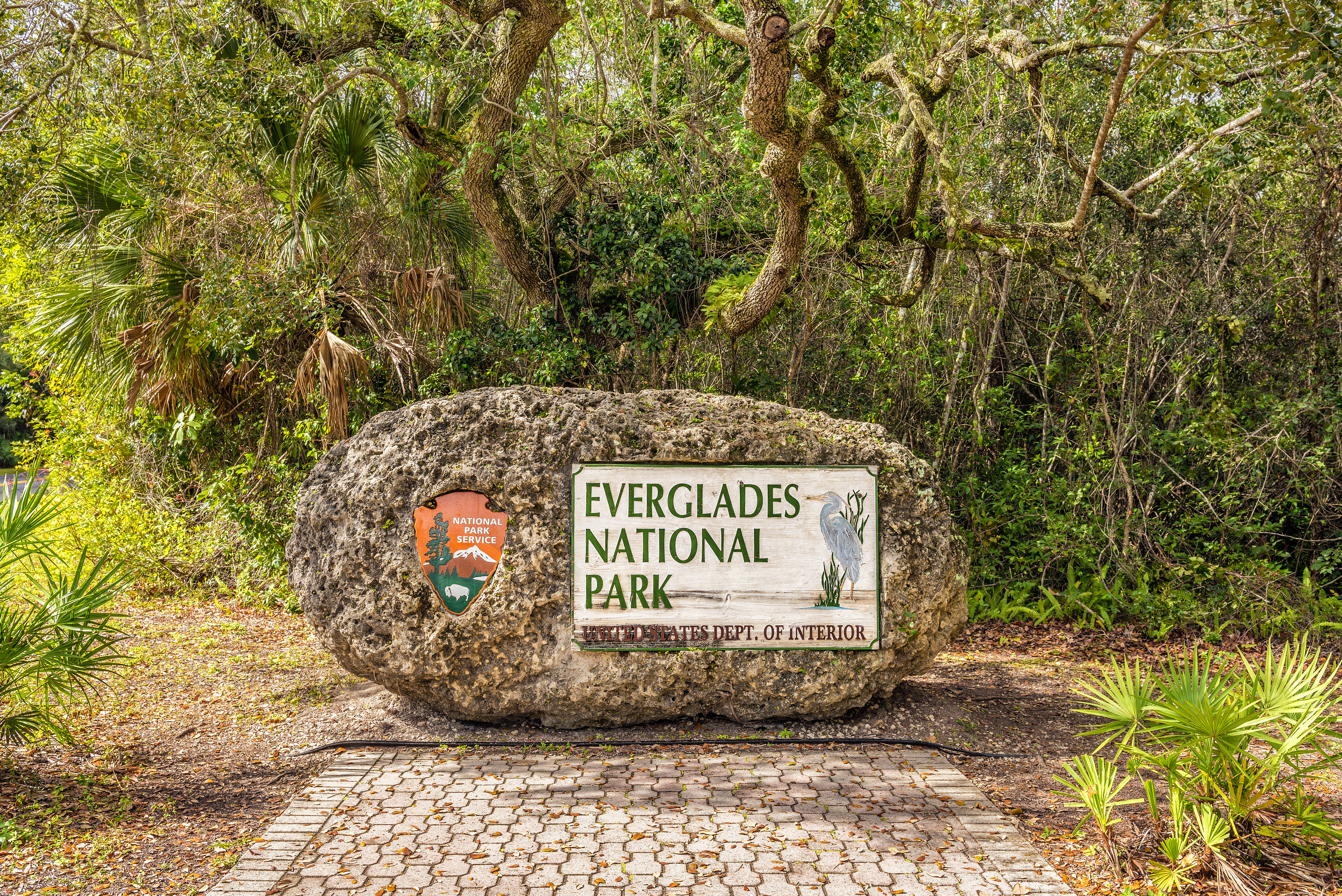 Entrance sign to Everglades National Park in Florida. (Shutterstock/Nick Fox)