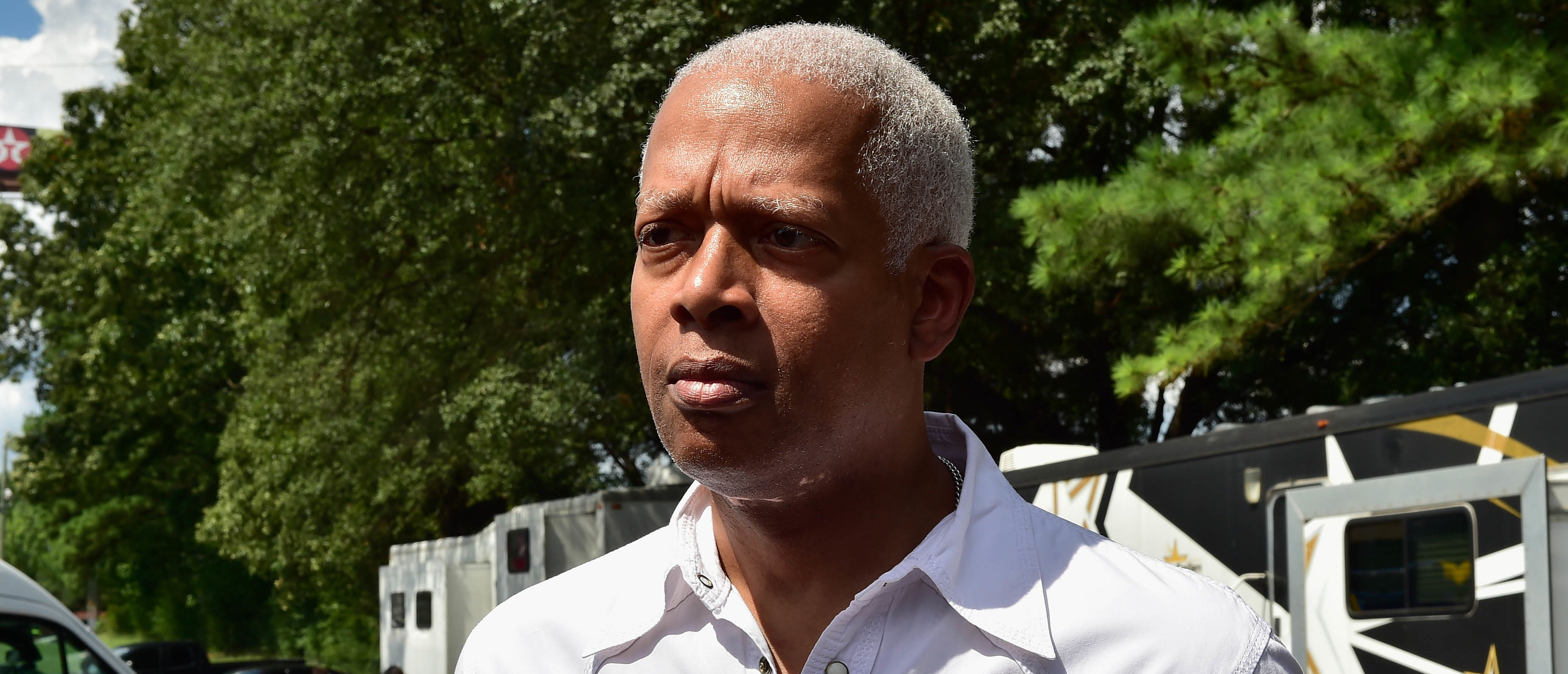 DECATUR, GA - AUGUST 05: Congressman Hank Johnson attend 21 Savage And His Leading By Example Foundation Host 3rd Annual Issa Back 2 School Drive on August 5, 2018 in Decatur, Georgia. (Photo by Moses Robinson/Getty Images for Leading By Example Foundation)