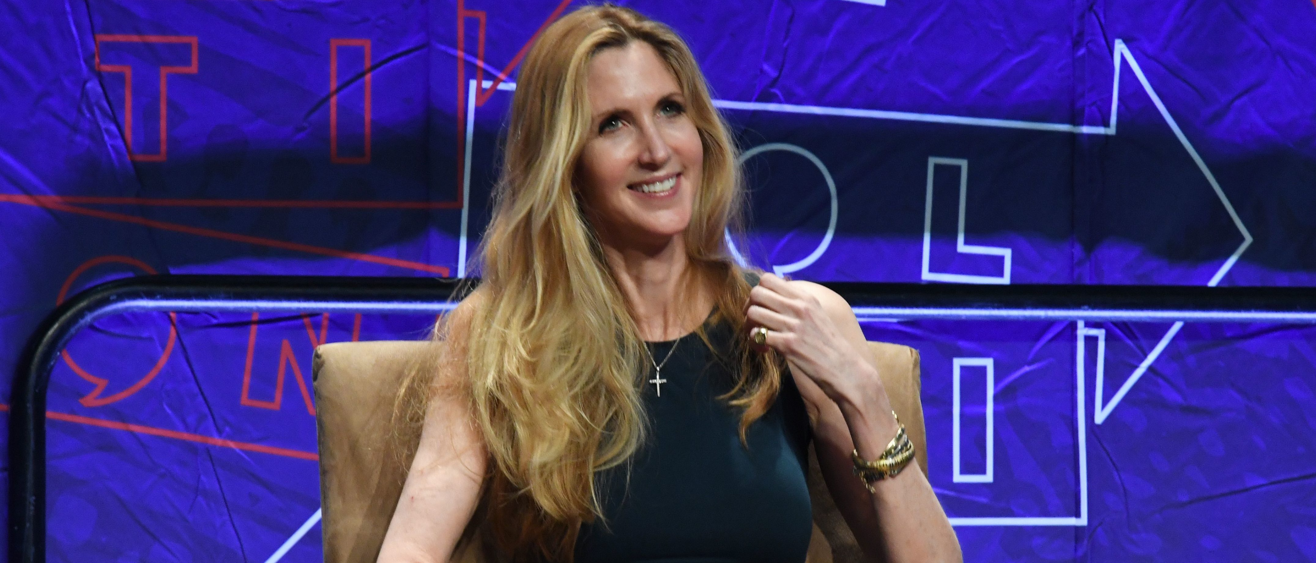 Conservative political commentator Ann Coulter reacts during a panel discussion at the 2018 Politicon in Los Angeles, California on October 20, 2018. MARK RALSTON/AFP/Getty Images