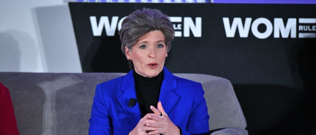 Sen. Joni Ernst (R-IA) speaks during the 6th Annual Women Rule Summit at a hotel in Washington, DC on December 11, 2018. (MANDEL NGAN/AFP/Getty Images)