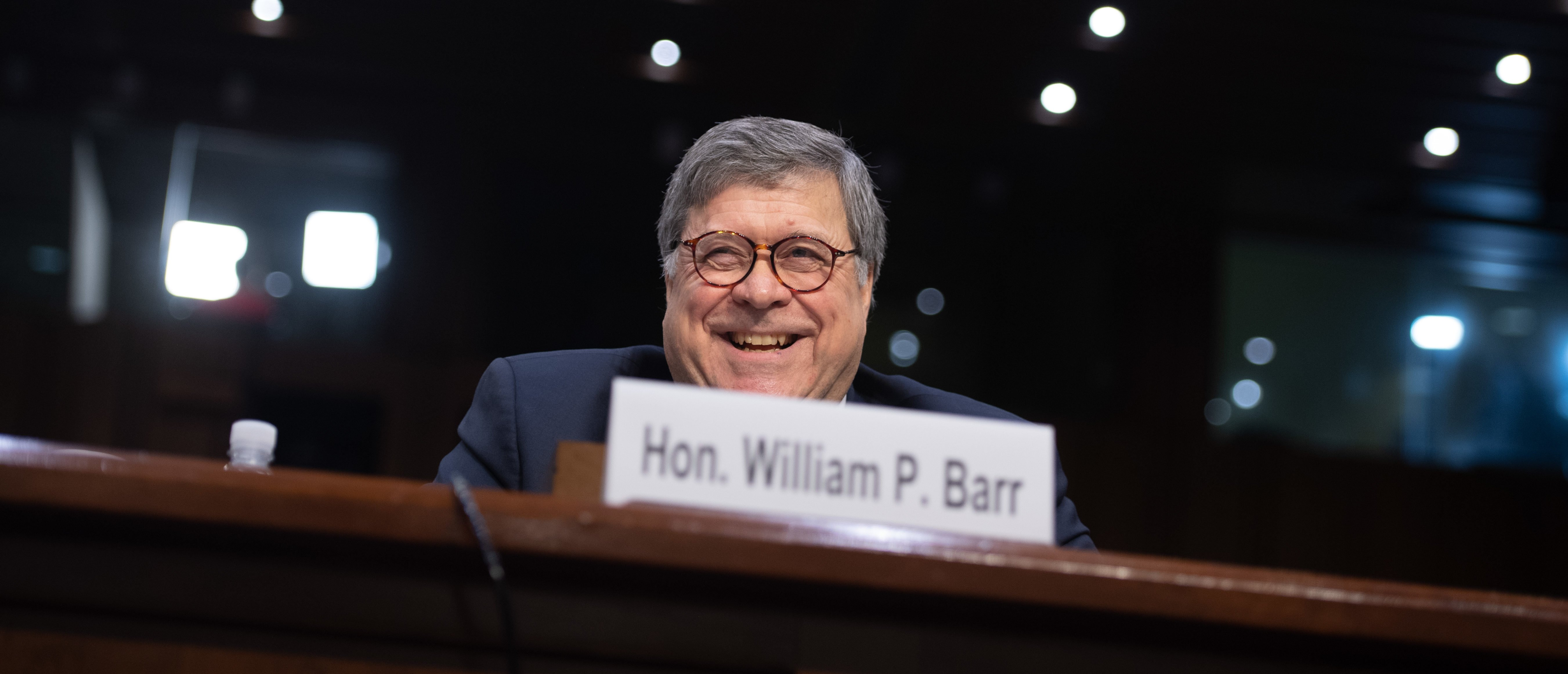 William Barr, nominee to be US Attorney General, testifies during a Senate Judiciary Committee confirmation hearing on Capitol Hill in Washington, DC, January 15, 2019. (SAUL LOEB/AFP/Getty Images)