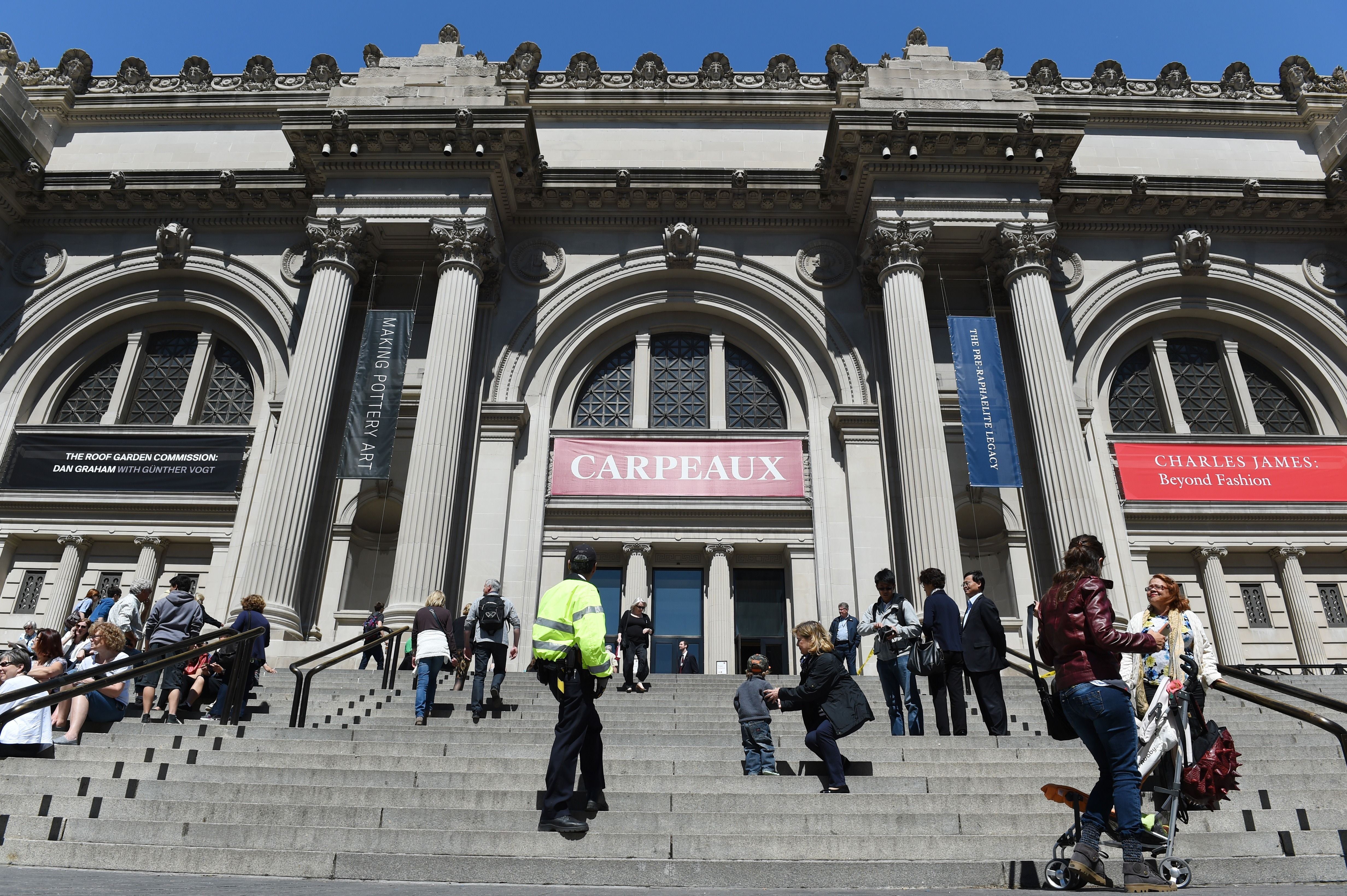 The front steps and entrance to The Metropolitan Museum of Art May 19, 2014 in New York. (STAN HONDA/AFP/Getty Images)