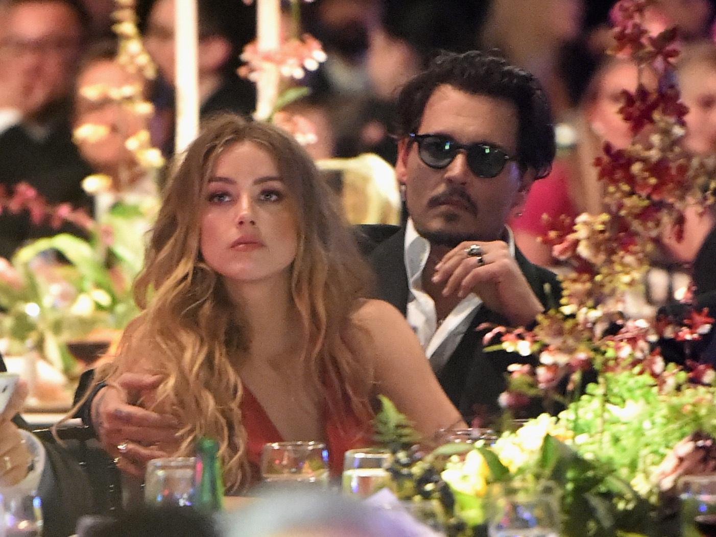 Actors Amber Heard and Johnny Depp attend The Art of Elysium 2016 HEAVEN Gala presented by Vivienne Westwood and Andreas Kronthaler at 3LABS on January 9, 2016 in Culver City, California. (Photo by Jason Merritt/Getty Images for Art of Elysium)