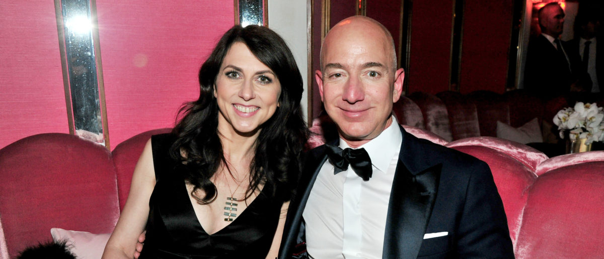 WEST HOLLYWOOD, CA - FEBRUARY 26: (L-R) CEO of Amazon Jeff Bezos and writer MacKenzie Bezos attend the Amazon Studios Oscar Celebration at Delilah on February 26, 2017 in West Hollywood, California. (Photo by Jerod Harris/Getty Images)