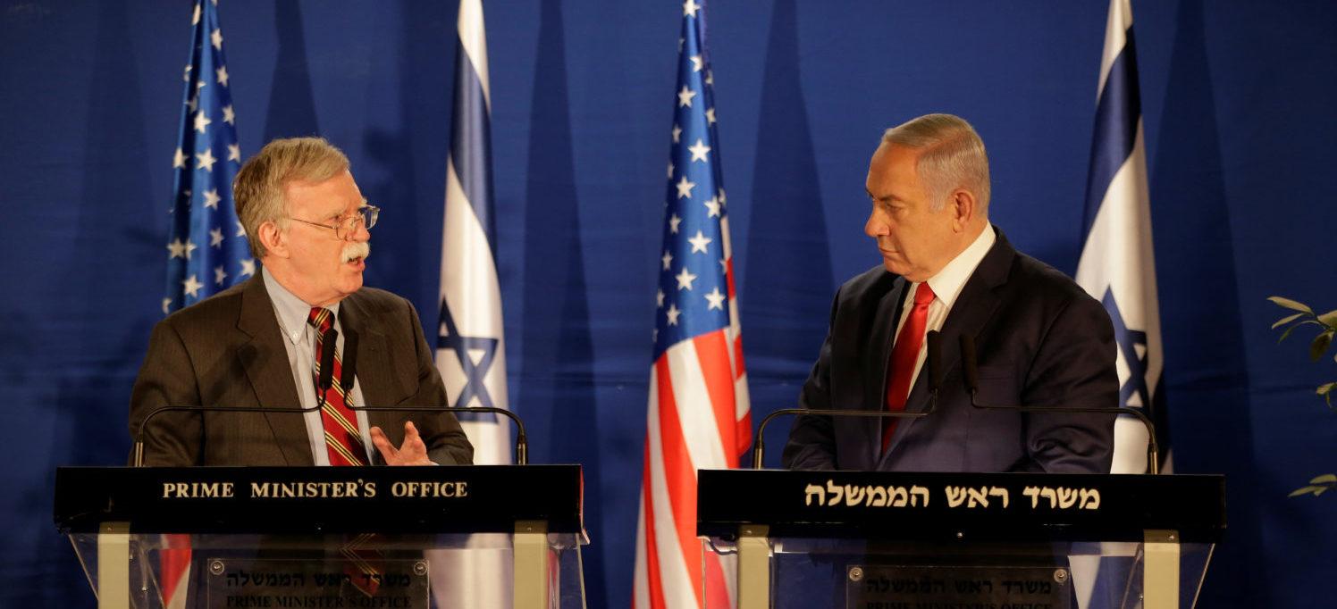 U.S. National Security Adviser John Bolton meets Israeli Prime Minister Benjamin Netanyahu in Jerusalem January 6, 2019. Oded Balilty/Pool via REUTERS