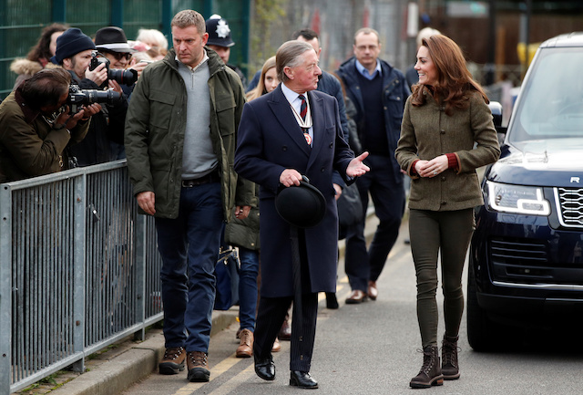 Britain's Catherine Duchess of Cambridge arrives at the King Henry's Walk Garden in Islington, London, Britain January 15 2019. REUTERS/John Sibley