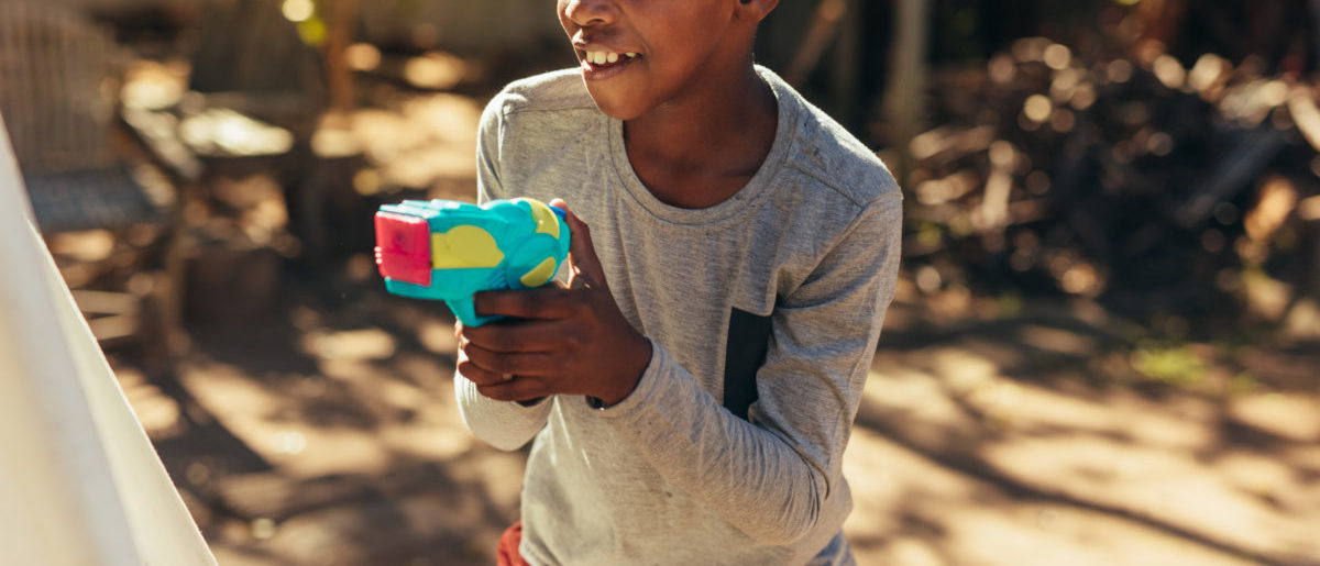 Police confiscated a gun from a 6-year-old boy. SHUTTERSTOCK/ Jacob Lund