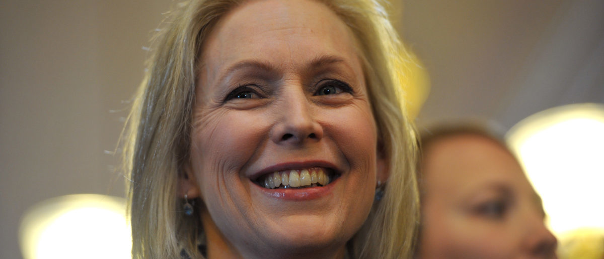 U.S. Sen. Kirsten Gillibrand (D-NY) speaks to a large crowd at the state capitol for the third annual Women's March on January 19, 2019 in Des Moines, Iowa. Demonstrations (Photo by Steve Pope/Getty Images)