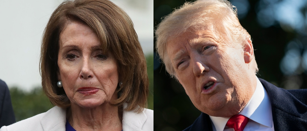 House Speaker Nancy Pelosi and President Donald Trump are at a budget impasse over the Trump's proposed border wall. Mark Wilson/Getty Images and Chris Kleponis - Pool/Getty Images