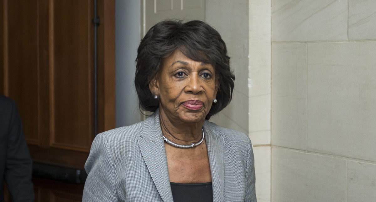 Maxine Waters Finds Her First Target As House Financial Services Committee Chair