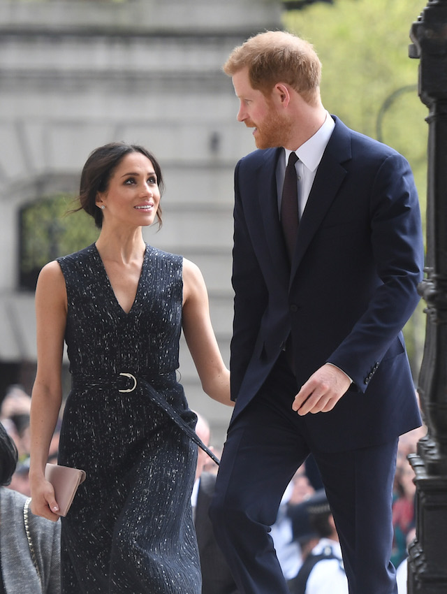 Prince Harry and Meghan Markle arrive at a memorial service at St Martin-in-the-Fields in Trafalgar Square to commemorate the 25th anniversary of the murder of Stephen Lawrence on April 23, 2018 in London, England.. The 18-year-old murder victim was fatally stabbed by a gang of racists in Eltham, south-east London, on April 22 1993. (Photo by Victoria Jones WPA Pool/Getty Images)
