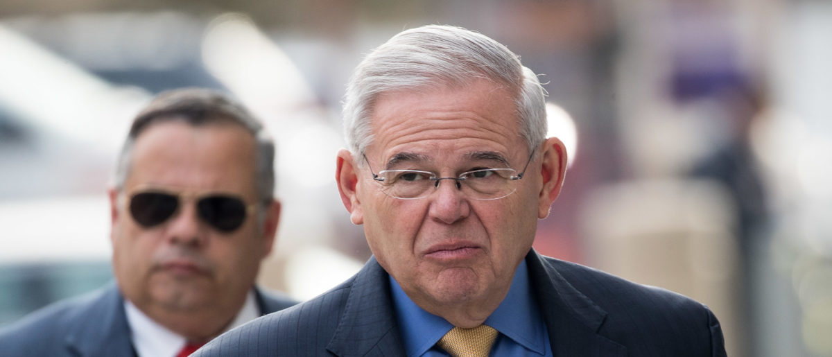 NEWARK, NJ - NOVEMBER 14: Sen. Robert 'Bob' Menendez (D-NJ) arrives federal court, November 14, 2017 in Newark, New Jersey. The jury continues to deliberate in his corruption trial. (Drew Angerer/Getty Images)