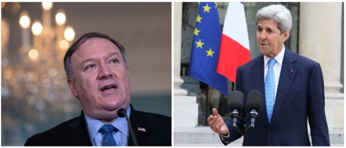 Pompeo Fires Back At Kerry For Suggesting Trump Should Resign
