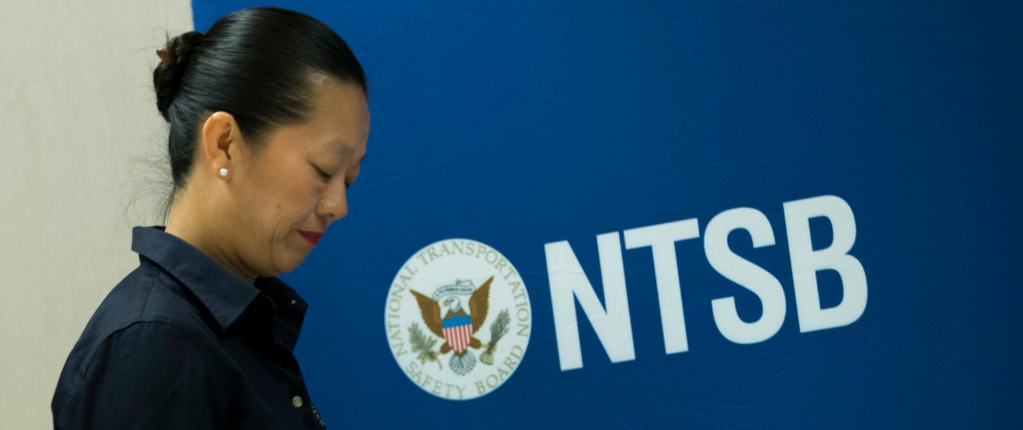 National Transportation Safety Board (NTSB) Vice Chairman Bella Dinh-Zarr arrives for a press conference near Hoboken Rail Station, Sept. 30, 2016 in Hoboken, New Jersey. (Photo by Drew Angerer/Getty Images)